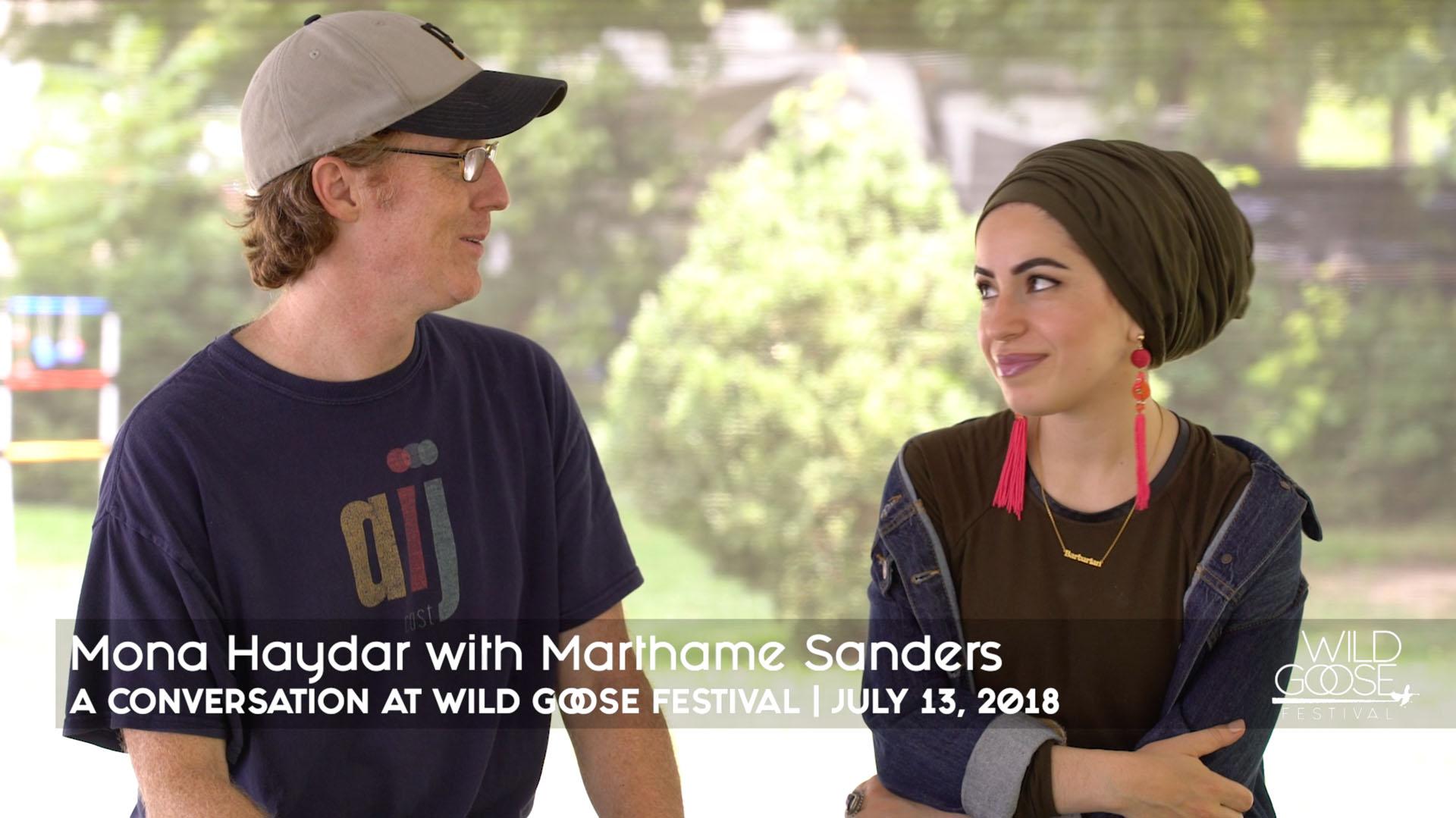 Mona Haydar Conversation with Marthame Sanders
