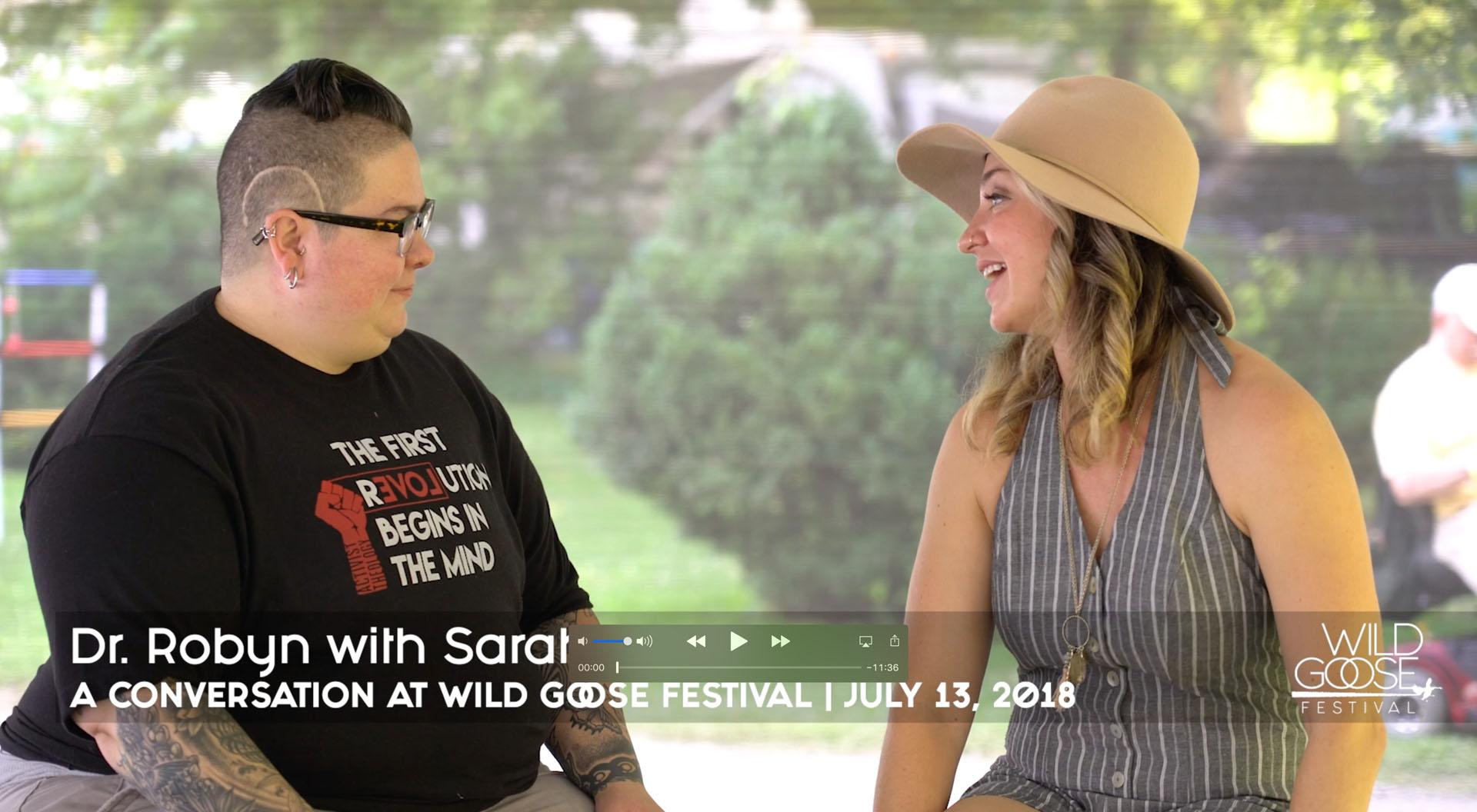 Dr. Robyn Henderson-Espinoza with Sarah Heath